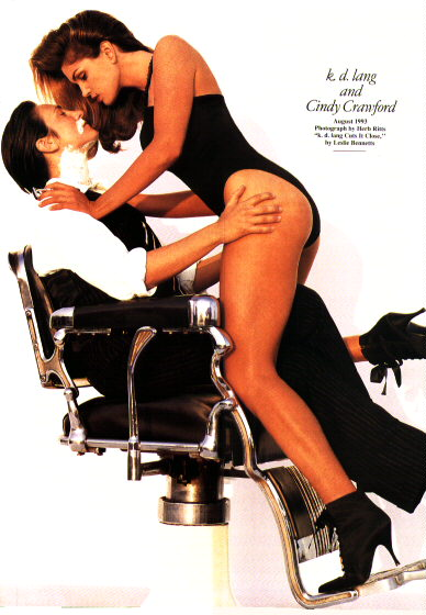 K D Lang & Cindy Crawford - Vanity Fair 2