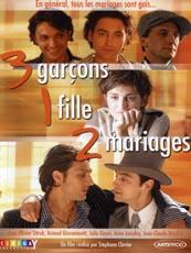 Affiche : 3 Garçons, 1 Fille, 2 Mariages