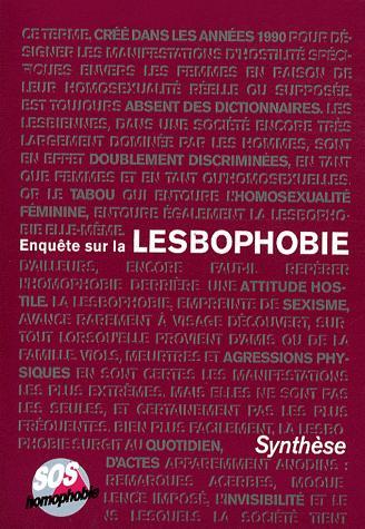 Enquête sur la Lesbophobie - SOS Homophobie