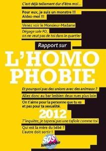 Couverture du livre : Rapport sur l'Homophobie 2012 de SOS Homophobie