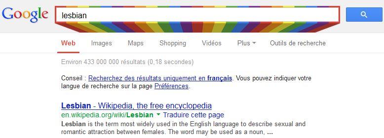 Google arc-en-ciel gay pride