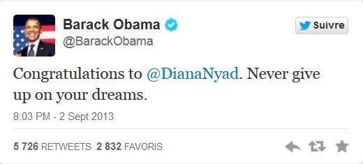 Diana Nyad tweet