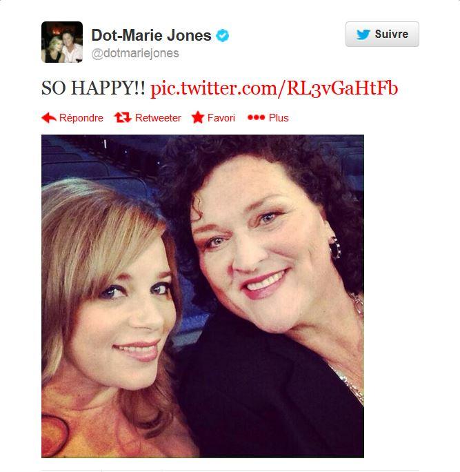 Tweet mariage Dot Maire Jones