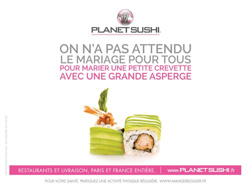 Planet Sushi Mariage pour tous