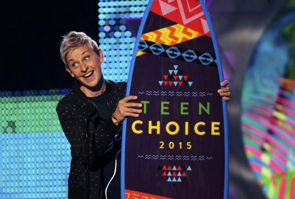 Ellen DeGeneres - Teen Choice Awards 2015